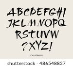 vector acrylic brush style hand ... | Shutterstock .eps vector #486548827