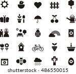 spring icons | Shutterstock .eps vector #486550015