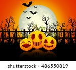 Halloween Background With Happ...