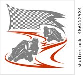 motorcycle racing on the... | Shutterstock .eps vector #486552934