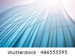 panoramic and perspective wide... | Shutterstock . vector #486555595