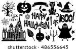 Halloween Design Elements Set....
