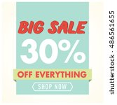 big sale off everything banner... | Shutterstock .eps vector #486561655