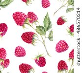 Watercolor Pattern Raspberries...