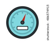 speedometer icon in flat style... | Shutterstock .eps vector #486574915