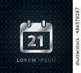 21st calendar 3d silver...