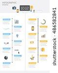 timeline infographic. vector... | Shutterstock .eps vector #486582841