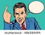 speaker businessman pointing...   Shutterstock .eps vector #486584494