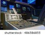 control mechanism in the cabin... | Shutterstock . vector #486586855