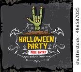 halloween vector illustration...   Shutterstock .eps vector #486587035