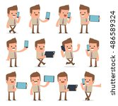 set of smart and funny... | Shutterstock .eps vector #486589324