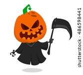 Cartoon Pumpkin Head Monster...