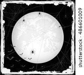 abstract halloween grunge... | Shutterstock . vector #486601009