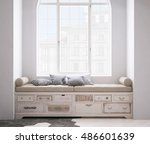 shabby chest of drawer  3d... | Shutterstock . vector #486601639