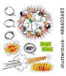 comic book pop art graphic... | Shutterstock . vector #486603685