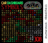 car dashboard panel icons... | Shutterstock .eps vector #486605611