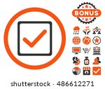 checkbox icon with bonus...