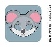 koala mask for halloween and... | Shutterstock .eps vector #486616735