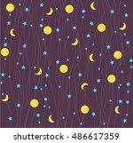 seamless pattern child... | Shutterstock .eps vector #486617359
