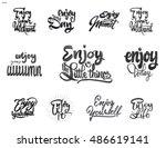 enjoy your weekend  enjoy your... | Shutterstock .eps vector #486619141