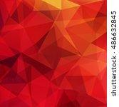 geometric pattern  polygon... | Shutterstock .eps vector #486632845