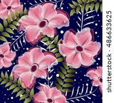 abstract floral background....   Shutterstock .eps vector #486633625