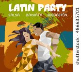 dance party illustration with... | Shutterstock .eps vector #486635701