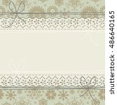 stylish lace frame with... | Shutterstock .eps vector #486640165