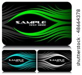 business cards set 38 | Shutterstock .eps vector #48664378