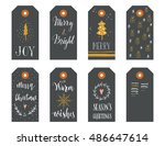 hand drawn christmas holiday... | Shutterstock .eps vector #486647614