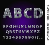 vector jewelry diamond alphabet.... | Shutterstock .eps vector #486648241