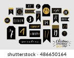 abstract black and white twenty ... | Shutterstock .eps vector #486650164