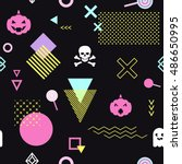 seamless pattern background... | Shutterstock .eps vector #486650995
