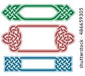vector celtic frame set... | Shutterstock .eps vector #486659305