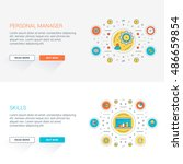 set of flat line business... | Shutterstock .eps vector #486659854