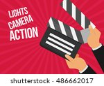 cinema lights camera action... | Shutterstock .eps vector #486662017
