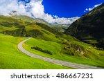 wonderful landscape in the alps ... | Shutterstock . vector #486667231