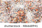 mosaic wavy pattern. abstract... | Shutterstock .eps vector #486668941