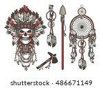 vector illustration design set... | Shutterstock .eps vector #486671149
