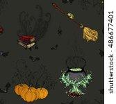 vector illustration. hand... | Shutterstock .eps vector #486677401