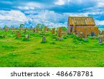 the  noratus cemetery with is... | Shutterstock . vector #486678781