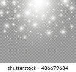vector glowing stars  lights... | Shutterstock .eps vector #486679684