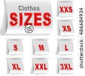 clothes size labels with...   Shutterstock .eps vector #486684934