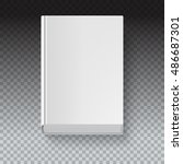 white book template on... | Shutterstock .eps vector #486687301