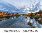 hoi an  vietnam   july 17  2015 ... | Shutterstock . vector #486695245