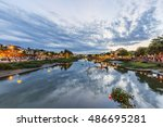 hoi an  vietnam   july 17  2015 ... | Shutterstock . vector #486695281