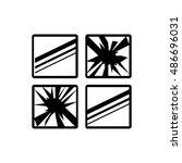 broken window icon illustration ... | Shutterstock .eps vector #486696031