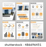 vector orange and gray template ... | Shutterstock .eps vector #486696451