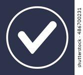 check  icon. flat design. | Shutterstock .eps vector #486700231