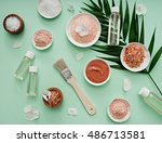 image of homemade cosmetics... | Shutterstock . vector #486713581